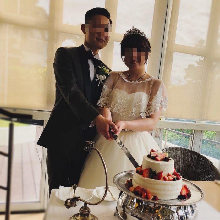 結婚披露宴でのケーキ入刀