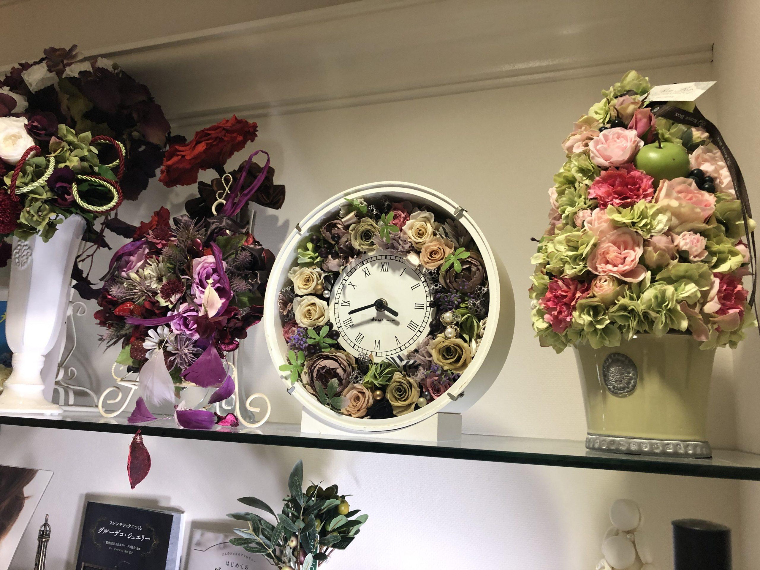お花の時計